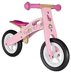 BIKESTAR Kinderlaufrad Lauflernrad Kinderrad für Jungen und Mädchen ab 2-3 Jahre   10 Zoll Kinder Laufrad Holz   Pink