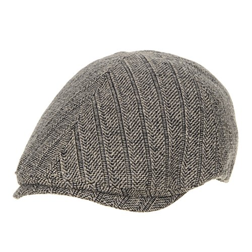 WITHMOONS Béret Casquette Chapeau Flat Cap Wool Herringbone Vintage Newsboy Ivy Hat SL3464 Marron foncé