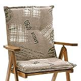 6 Niederlehner Auflagen 8 cm dick 103 cm lang in braun Miami 40260-620 (ohne Stuhl)