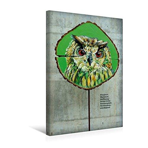 Premium Textil-Leinwand 30 cm x 45 cm hoch, Die kluge Eule | Wandbild, Bild auf Keilrahmen, Fertigbild auf echter Leinwand, Leinwanddruck (CALVENDO Tiere) (Kluge Bär)