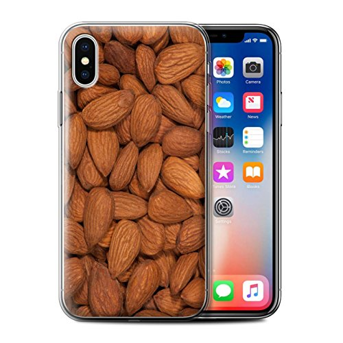 Stuff4 Gel TPU Hülle / Case für Apple iPhone X/10 / Doritos Muster / Imbiss Kollektion Mandeln