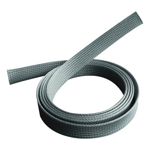 PureMounts PM-ZCCS-SOCKS-20G Universeller Polyester-Kabelschlauch, selbst zusammenziehend, Ø 20mm, 1,80m, grau