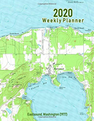 2020 Weekly Planner: Eastsound, Washington (1977): Vintage Topo Map Cover -