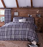 Catherine Lansfield Kelso Double Duvet Set - Charcoal