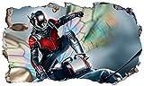 Chicbanners Ant-Man Ant Man 3D Wall Crack Bumblebee Smash V103Wandtattoo Selbstklebende Poster Wall Art Größe 1000mm Breit x 600mm Tief (groß)