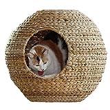 Traspirante nido per animali domestici nido estivo quattro stagioni casa per gatti chiuso rattan gatto casa gatto casa gatto letto gatto gatto rimovibile cat climbing frame ( Size : 50*50*50cm )