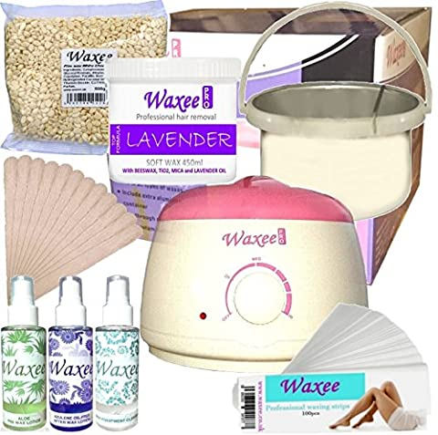 Complete waxing kit STARTER soft & hard film pot 400ml can wax HAIR REMOVAL HOT