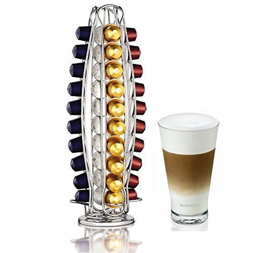 Home Treats Nespresso Coffee Capsule Stand. Rotating 40 Pod Holder Test
