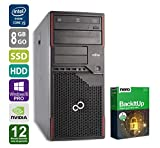 PC Gamer Fujitsu P910 - Nvidia Geforce GTX1050 - Intel Core i5-3470 @ 3,2GHz - 8Go RAM - 250 Go SSD - 1To HDD - Graveur DVD - Win10Pro (Reconditionné Certifié)