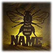 Schlummerlicht24 Biene Deko Lampe Mit Name Zubehör Für Den Imker Lustige  Witzige Geschenke Set Für Küche