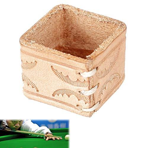 Beito Billard-/Pool-/Snookerqueue-Kreidehalter aus Kunstleder, Holzfarben