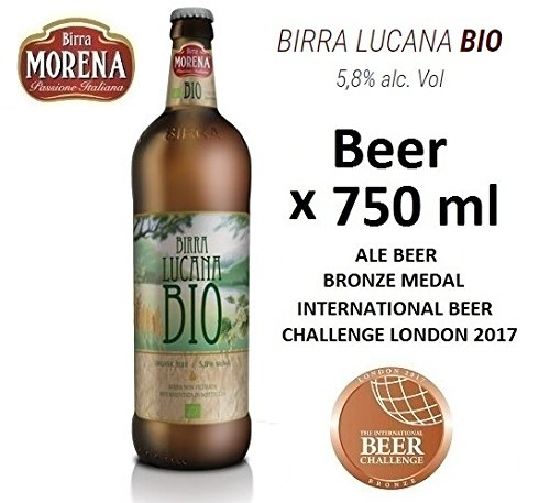 Birra Morena Lucana Bio 5,8% alc vol - CL 75 -Biologica - Organic Beer - Artigianale - Craft Beer - Italian Beer - Award - Best Gift Events Christmas Easter
