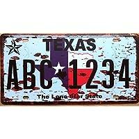Vintage TEXAS USA bar pub cafe poster retro placca segno di stagno metallico di ferro di vernice parete decorazione Licenza Auto piastra 15x30cm