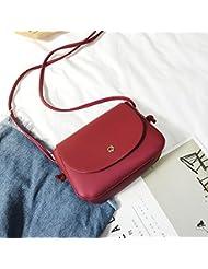 Malilove Bolsa De Hombro Messenger Bag Retro Pequeño Paquete De Puro Simple Juego Todos Los Estudiantes,De Gules
