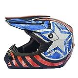 Motocross Youth Kids Helmet DOT Approved - Motorbike Moped Motorcycle Off Road Full Face Crash Downhill Four Wheeler Helmet for Street Bike Dirt Bike BMX ATV (XL,2)