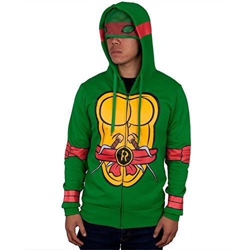 Teenage Mutant Ninja Turtles - ich bin Raphael Kostüm Zip Hoodie - ()