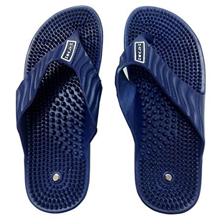 ACi Acupressure Health Care India Massage Slippers Acupuncture Foot Healthy Chappal for Men and Women - Blue