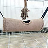 KOBWA Hamster Hamac Chaud Tunnel en Coton à Suspendre Maison Tube Toys Snuggle Grotte Refuge pour Petits Animaux Hamster Rat Furet écureuil Chinchilla Cochon d'Inde