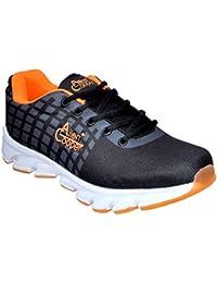 Allen Cooper ACSS-007 Black Orange Sports Running Shoes For Men
