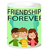 Jikraa Green Friendship Day Coffee Mug Multicolor 350 ml