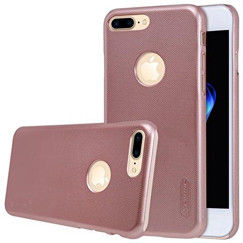 Nillkin Frosted Shield - Housse coque rigide de protection et anti -dérapant + film d'écran pour iPhone 7 Plus - Noir rose gold