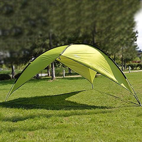 Blueidea® Al Aire Libre Parasol Basecamp Beach Refugio Triangular Techo de Familia Pesca Acampa De jardín Pergola + UV Protección (Verde)