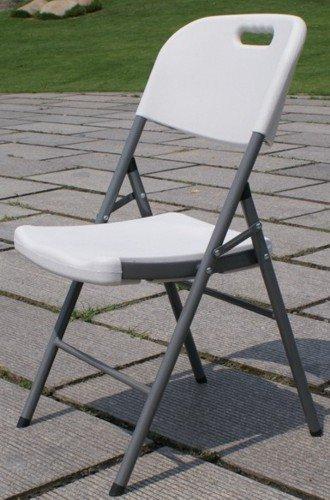 Papillon 8043820 – Chaise de Jardin en métal et PVC Blanc 47 x 42 x H88 cm