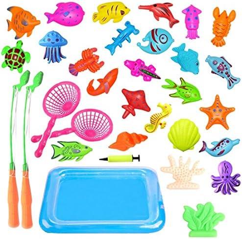 Creation Jouet de Pêche, 40 Pièces Magnétique Jouets de Bain Bain Bain Bébés pour l'éducation Précoce, Grand Cadeau pour Fille Garcon     Approvisionnement Suffisant  d01f9c