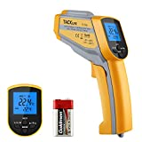 Tacklife IT-T06 Dual-Laser Infrared Thermometer, -58°F~ 1022°F Temperature Gun with Non-Contact Voltage, Adjustable
