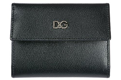 Dolce&Gabbana Kreditkartenetui Echtleder Herren Kreditkarten Geldbörse Schwarz (Herren-geldbörsen Dolce Gabbana &)
