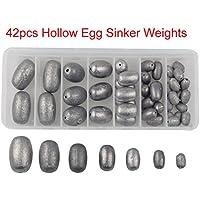 Shaddock pesca® Varios Tamaño 42 huevo plomos de pesca Sinker Peso de graves pesos gusano