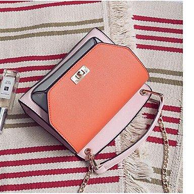 SUNNY KEY-Borsa a tracolla @ Donna Borsa a tracolla PU (Poliuretano) Per tutte le stagioni Casual Cerniera Verde Bianco Arancione , white orange