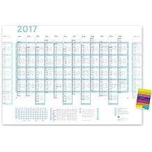 XXL weekview pared Planner 2016 (a0), Arreglo de grilla semanal, incl.. proyecto y Planificador de vacaciones, rodado