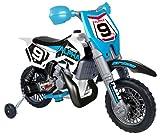Feber- Alpha Moto àBatterie pour Enfants de 3 à 5 Ans, 6 V, 800007932, Bleue