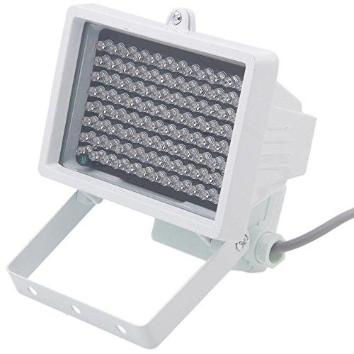 niceeshop (TM) 96LED 12V foco de infrarrojos visión nocturna IR Lámpara de luz, Weiß Licht 8.00 W 12.00 voltsV