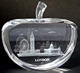 Best Cathedral Art Gifts For Friends - Laser Art Crystal - Apple Shape Crystal Review