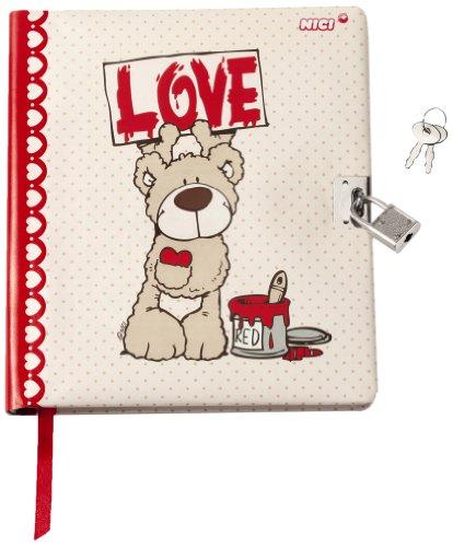 Bär-tagebuch (Nici 36267 - Tagebuch Love Bär, 16 x 18 cm, hellbraun/creme)