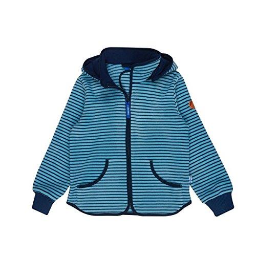 Finkid Tonttu Striped river poseidon Zip In Kinder Fleece Jacke mit Streifen