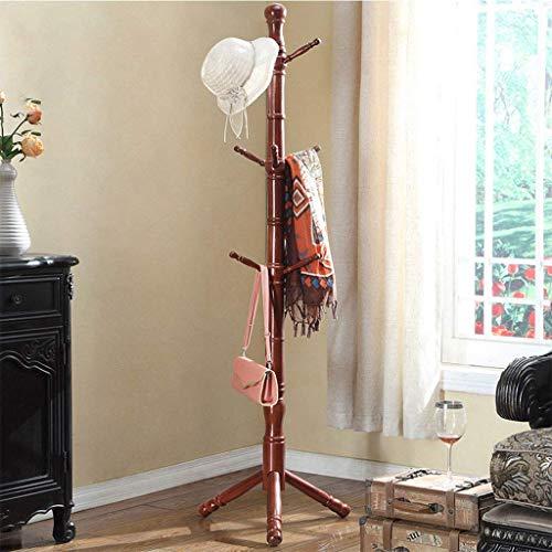 TQ Coat Rack Bold Holzfußboden Haus Schlafzimmer Händchen Einfaches Wohnzimmer Europäischen Kreativen Kleiderständer (9 Haken),Yellow