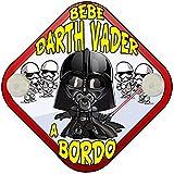 Placa bebé a bordo parodia Bebé Darth Vader a bordo friki a bordo