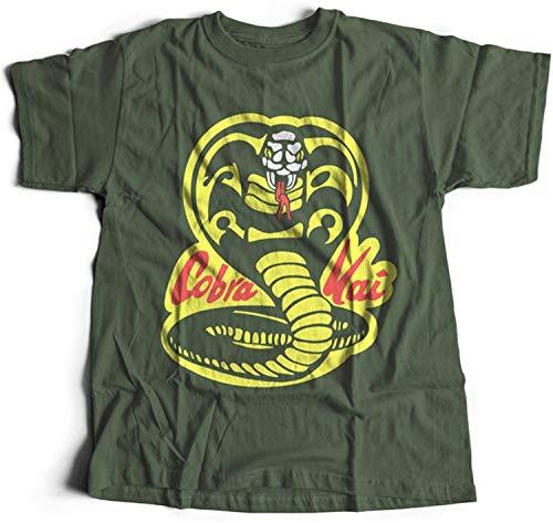 51XQSBqgGoL - Camiseta Cobra Kai verde militar