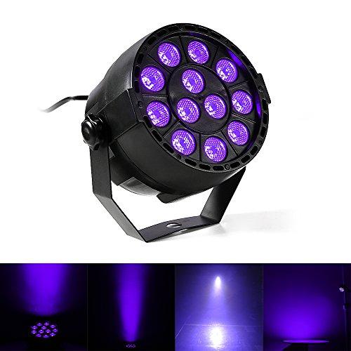 Iluminación de Efecto, Gledto 12 LEDs DJ Disco LED UV Lámpara de Escena Morado Proyector Bar Wall Washer Light para Escena Estadio KTV Party Pub Club Disco Show Concert Festival Manifestación