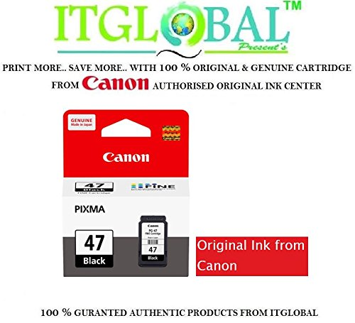 Original Canon 47 Black Ink Cartridge PG 47  available at amazon for Rs.586