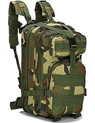 Candora ™ l al aire libre mochila de senderismo camping Bolsa Ejército Militar Táctico Mochila de senderismo (camuflaje
