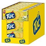 TUC Sour Cream & Onion/Fein gesalzenes Knabbergebäck mit Sauerrahm-Zwiebelgeschmack / 18 x 100g