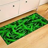 CHAOSE Leichte Weiche Polyester-Baumwolle Bedruckte Fläche Teppich Bodenmatte Grünes Gras Für Wohnzimmer Und Schlafzimmer