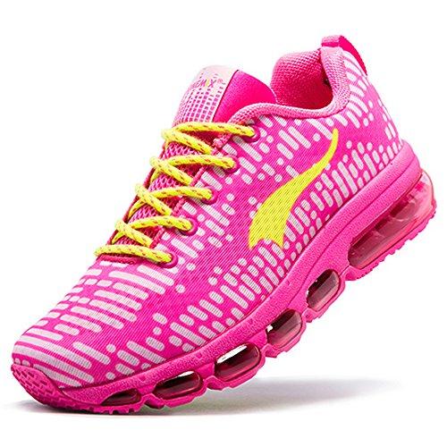 Onemix Air Sneakers Straßenlaufschuhe Herren Damen Laufschuhe Sportschuhe mit Luftpolster Turnschuhe Rosa