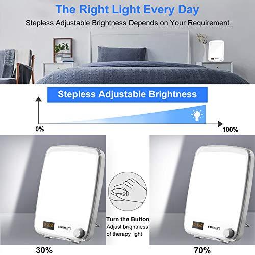51XQUIOf1 L - BEIEN Lámpara de luz Diurna, Lámpara de luminoterapia para tratamiento de Trastorno Afectivo Estacional (SAD) - Lámpara terapéutica/Luz Natural Diurna/10.000 Lux/Sin UV/Sin centelleo