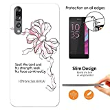 """003468 - Bible Quote Bow Seek The Lord Design Huawei P20 Pro 6.1"""" Fashion Trend Leichtgewicht Hülle Ultra Slim 0.3MM Kunststoff Kanten und Rückseite Protection Hülle - Clear"""