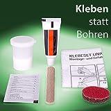 Golden Lutz® 2K Klebeset Universal – Zur Befestigung von Badezimmer-Accessoires – ganz ohne Bohren
